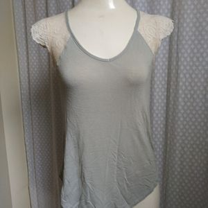 Laced sleeve t-shirt